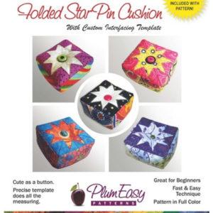 Easy Folded Star Pin Cushion Pattern