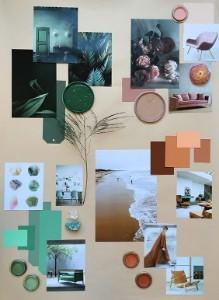 Les mood boards aident à donner une idée directrice pour les couleurs