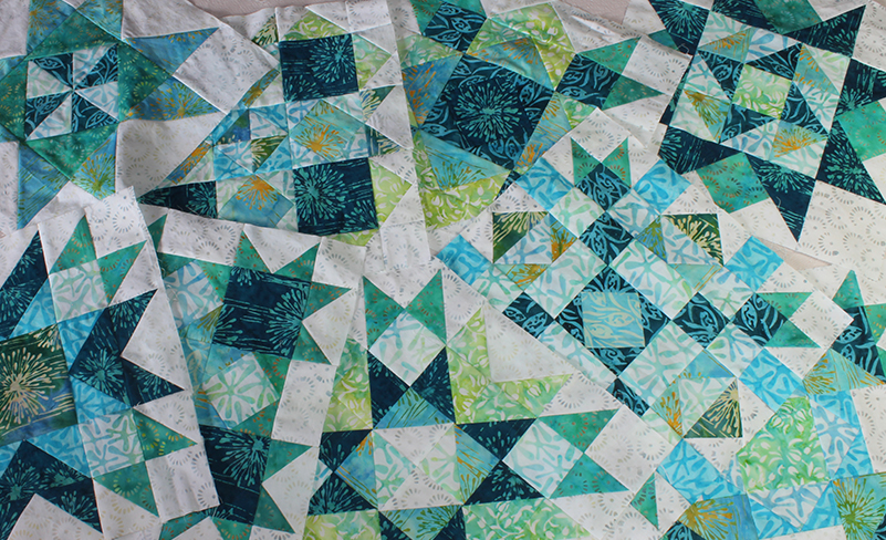 Spectrum Quilt-A-Long featuring Little girl in a blue armchair collection by Anthology