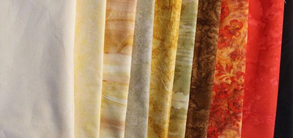 Les tissu Banyan Batiks pour le projet